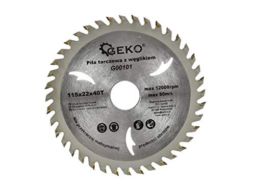 Geko G00107 Tct - Hoja de sierra circular para madera (125 x 22 x 40 T, 1 unidad)