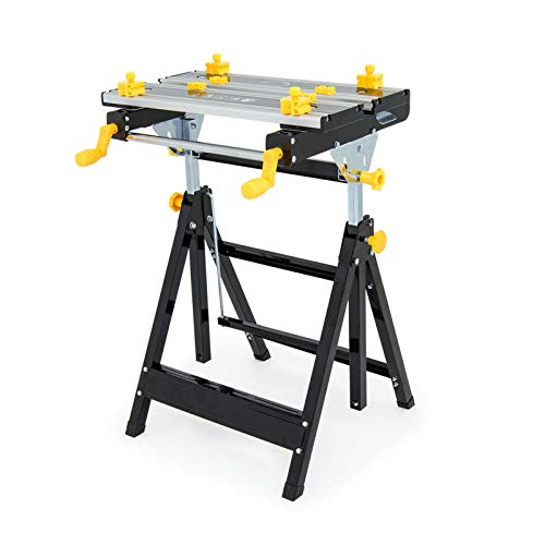 Wolf Craftman's Super Folding Workbench - Vice Clamping Function, Adjustable Height, 100Kg Max. Load