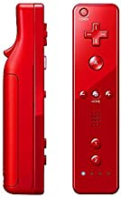 OSTENT 2 in 1 Remote Controller Built in Motion Plus Compatible for Nintendo Wii Console Game Color Red