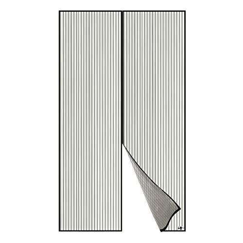 Apalus Magnet Fliegengitter Tür Insektenschutz 140x240cm, Der Magnetvorhang ist Ideal für die Balkontür, Kellertür und Terrassentür, Kinderleichte Klebemontage Ohne Bohren, Nicht Kürzbar