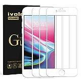 ivoler 3 Stücke Panzerglas Schutzfolie für iPhone SE 2020 / iPhone SE 2 / iPhone 8/7, [Volle Bedeckung] Panzerglasfolie Folie Hartglas Gehärtetem Glas DisplayPanzerglas - Weiß