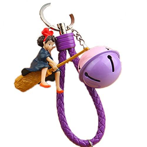 JKDFGJ Miyazaki Animationsfilm Schlüsselanhänger 3D PVC Puppe Schlüsselanhänger Anhänger für Frauen Taschenanhänger Autozubehör