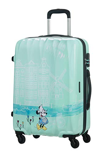 American Tourister Disney Legends Spinner M Maleta Infantil, 65 cm, 62.5 L, Turquesa (Take Me Away Minnie Amsterdam)