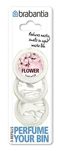 Brabantia 482083 Perfume Your Bin Nachfüllkapseln 3 Kapseln, Blumenduft