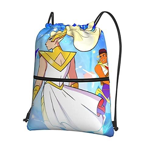 SheRa And The PrinCesses Of Power - Bolsa de natación con cordón para niños, mochila de gimnasio, para escuela, equipo de polietileno