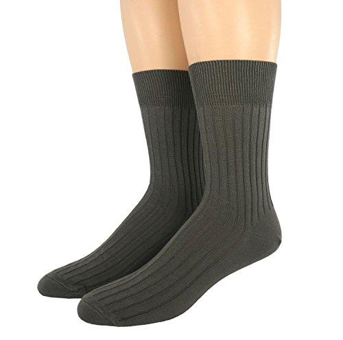 Shimasocks Herren Socken 7:2 Rippe 100prozent Baumwolle, Farben alle:Einzelpaar grün, Größe:35/38