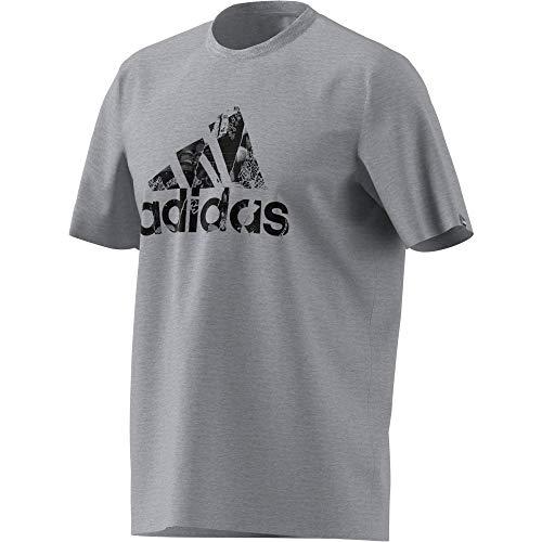 adidas Herren Photo Logo Tee T shirt, Mgreyh, XXL EU