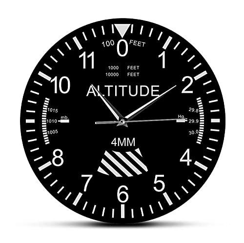 Reloj De Acrílico 30cm Altímetro, decoración del hogar, Reloj de Pared, Seguimiento, piloto, avión, altitud, Estilo de medición, sin tictac, Reloj de Pared silencioso, Regalo de aviación