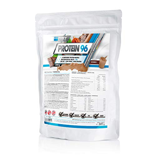 Frey Nutrition Protein 96 Schoko Zipp-Beutel, 1er Pack (1 x 500 g)