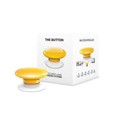 FIBARO The Button Yellow/Contrôleur de Scènes Z-Wave +, Jaune, FGPB-101-4