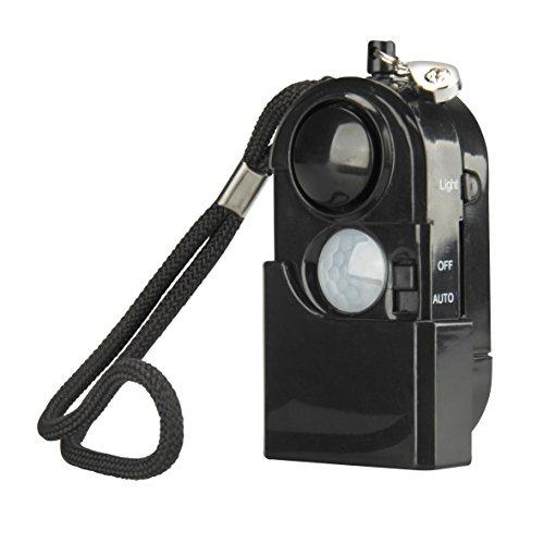 UNITEC 47011 Personenalarm mit Bewegungsmelder und Licht, schwarz