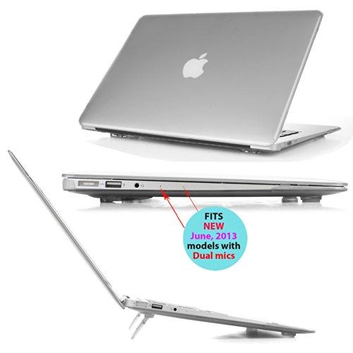 mCover hochwertigem Polycarbonat Hulle Schutzhulle Notebooktasche Hard Shell Case Tasche Etui fur Apple Macbbok Air 13 Zoll Modell A1466 A1369 Gefrostet Transparent