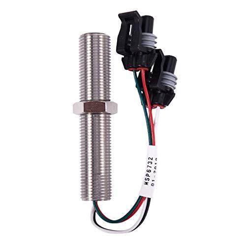 Nrpfell Sensor MagnéTico MSP6732C Sensor de Velocidad Parte Del Generador 5/8 M16 UNF VDO Sensor de Alarma Del Generador MagnéTico