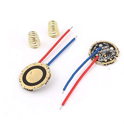 X-DREE Linterna antorcha 2 cables 5 modos Q5 LED Placa de circuito del conductor 17mm Dia 2pcs(Circuito driver LED 5-Mode Q5 LED per torcia 5 fili 5mm Dia 2pz