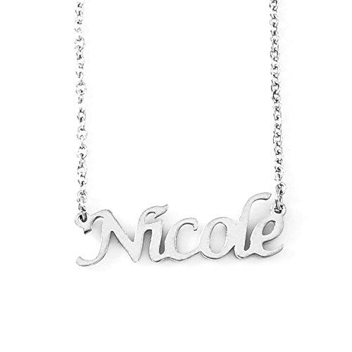 Kigu Nicole Nome Collana Personalizzata - Tono Argento