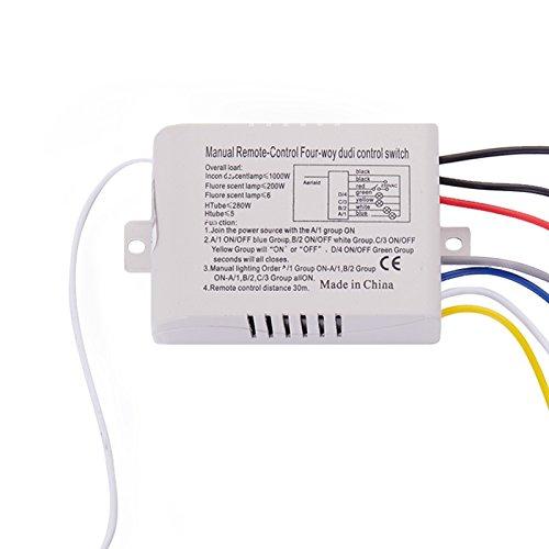 Rayocon 4 modo luce della lampada digitale senza fili 'interruttore di telecomando ON/OFF 220V