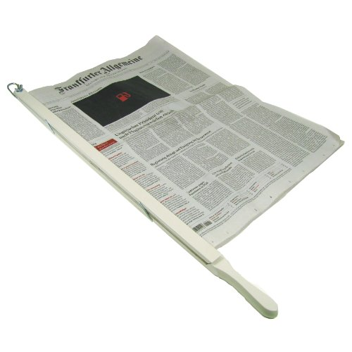 BigDean Zeitungshalter Landhausstil Weiss Seidenglanz