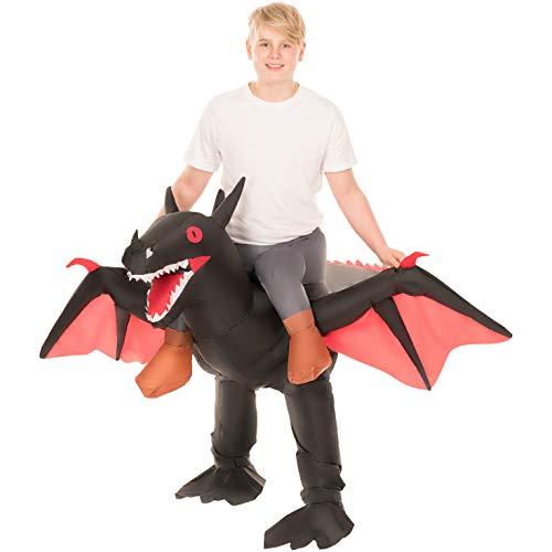 Morph MCKROIBD Ride Kostüm Kind Schwarzer Drache Kinder Einheitsgröße