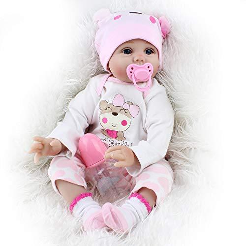 Scnbom 22pulgadas 55cm Reborn niñas Muñecas Realista Recién Nacido Baby Dolls Vinilo Silicona Suave niño Juguetes Regalos de Cumpleanos