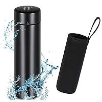 flintronic bottiglia acqua, borraccia termica 500ml coppa da viaggio, tazza intelligente led temperatura display, boccetta per vuoto in acciaio inossidabile per mantenere caldo/freddo(senza filtro)