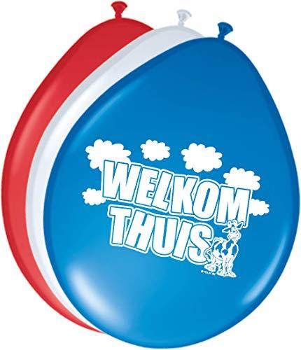 Folat 08253 Welkom thuis ballonnen - 8 stuks, meerkleurig