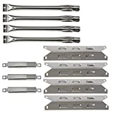 Hisencn Grill Parts Kit Compatible with Kenmore 146.34611410, 146.23678310, 146.10016510, 146.16197210, 146.16132110, 146.34461410, 146.16142210, 146.23679310 Grill Burner, Heat Plate, Crossover