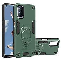 NLE携帯電話ケース 目に見えないホルダー付き1アーマーナイトシリーズPC TPU保護ケース2 Oppoに対応 (色 : Dark Green)