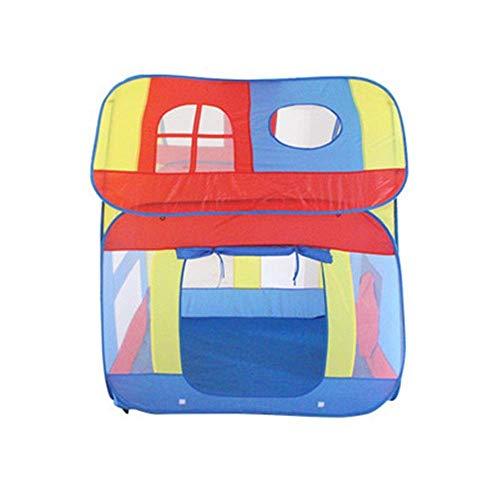 XXSHN Tienda de campaña para niños Casa de Juegos para niños Casa de Juguete de túnel Tres en uno portátil Juguetes para Interiores o Exteriores para niñas/niños Niños