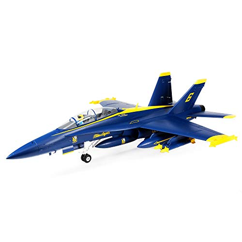 E-flite RC Airplane F-18 Blue Angels 80mm EDF BNF Basic (Transmitter, Battery and Charger Not Included) with AS3X and Safe Select, 980mm, EFL13950