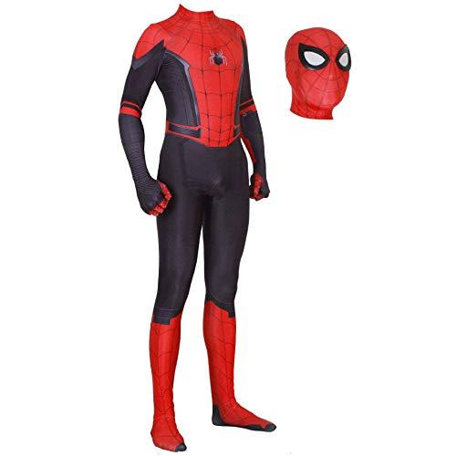 JUFENG 3D Spider-Man Strumpfhose Digitaldruck Spandex Dress Up Zentai Realistische Comics Halloween Cosplay Kostüm,A-Adult/L