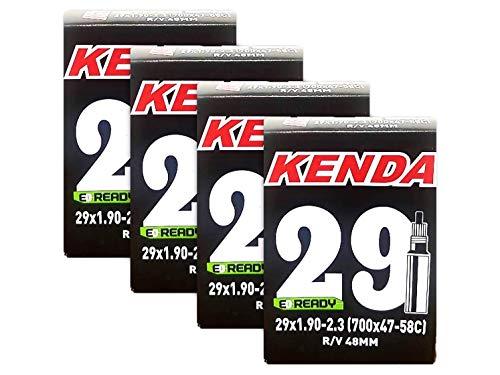 Kenda 29er Bicycle Tube 29x1.9-2.3 (48mm Presta R/V) - 4 Pack