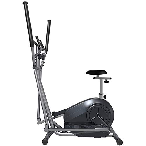 YIZHIYA 3 in 1 Cross Trainers, 8 Level Adjustable Magnetic Resistance Multifunction Elliptical Cross Trainer Machine with Seat, Gym Household Portable Small Ultra Quiet Fitness Equipment,Black