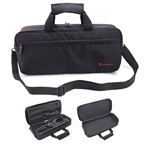 Moman Gimbal Tasche Tragetasche Schutzhülle für Zhiyun Smooth 4 Smartphone Gimbal Handtasche mit Schultergurt für 3 Achsen Handy Stabilisator Leicht Wasserdicht Schwarz