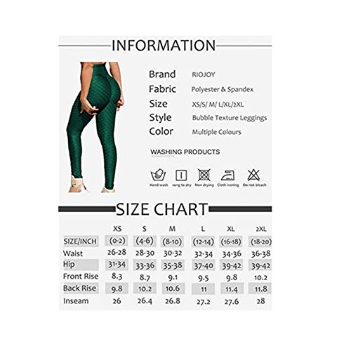Women Honeycomb High Waist Anti Cellulite Waffle Gym Leggings,Stretch Running Workout Bubble Textured Yoga Pants,Scrunch Butt /ruched Tummy Control Butt Lift Running Sport Tights (Black, S)