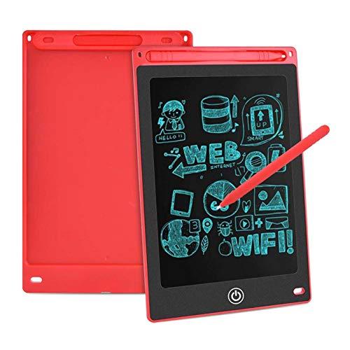 Aigoss LCD Schreibtafel 8,5 Zoll Elektronische Schreibtabletts Grafiktabletts Löschbare Zeichnung Graffiti Board Notepad mit Anti-Clearance Funktion und Stift Kinder Spielzeug Geschenk - Rot