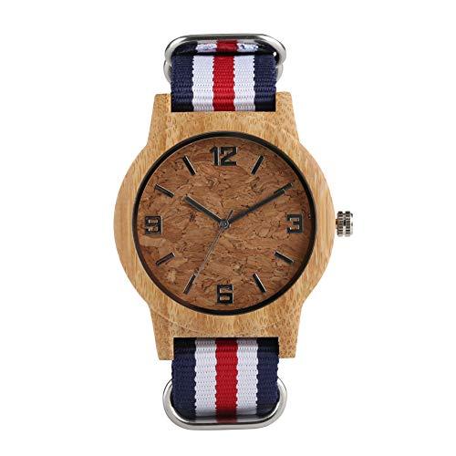 Relojes de madera natural para hombres, relojes de madera ecológicos premium para mujeres, relojes de madera personalizados Ideas regalos para adolescentes