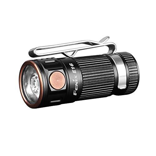 Fenix E16 Mini EDC - Linterna con Gran Salida