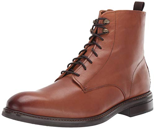 Cole Haan Men's Wagner Grand Plain Toe Boot Water Proof Fashion, Light Brown, 10 M US