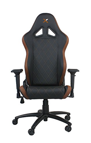 Ferrino Line Brown on Black Diamond Patterned Gaming and Lifestyle Chair by RapidX brown chair gaming