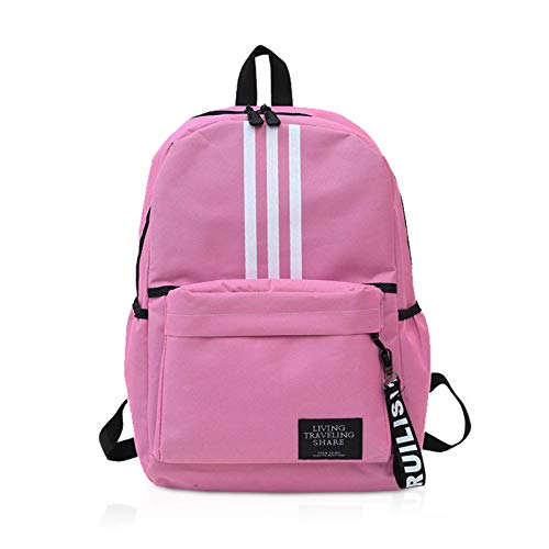 FANDARE Backpack Casual Daypack Men Women School Bag for Boy Girl Campus Book-Bag Teenager Outdoor Travel Camping Lightweight Bag Pink