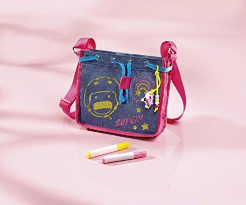 Soy Luna Bastel-Set: Umhänge-Tasche mit Soy Luna-Motiv – zum Selber Verzieren mit Perlen, Anhängern und Stiften