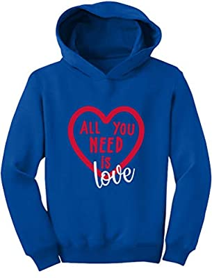 Tstars - All You Need is Love - Valentine's Day Toddler Hoodie 4T Blue