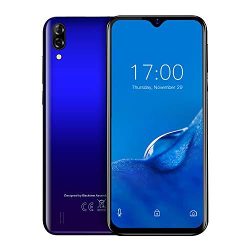 Teléfono Móvil Libres BV A60 Compatible con Blackview, Gota Agua Pantalla + de 6.1', 16GB ROM + SD 128GB, Batería de 4080 mAh, Grosor de 9.8 mm, Smartphone Android 8.1, Dual SIM,Micro USB(EU Versión)