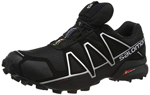 Salomon Speedcross 4 GTX, Zapatillas de Trail Running Hombre, Negro (Black/Black/Silver Metallic-X), 42 2/3 EU