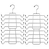 SONGMICS Bra Hangers, Pack of 2 Cami Hangers, Space-Saving Bra Organizer, Tank Top Hanger for Camisoles, Bras, Strappy Dresses, Silver UCRI045B01