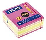 Milan 415508400 - Cubo notas adhesivas removibles