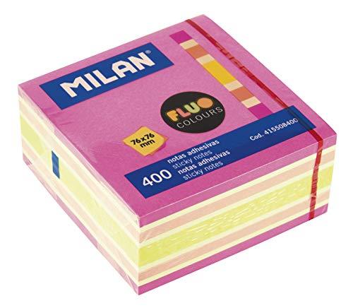 Milan 415508400 – Cubo notas adhesivas removibles