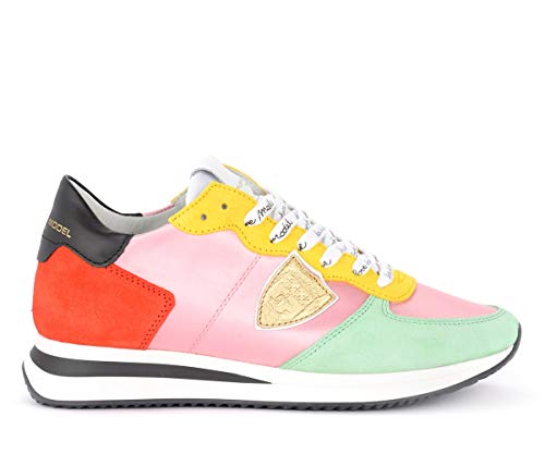 Philippe Model Sneaker Tropez X In Tessuto Rosa E Suede Multicolor