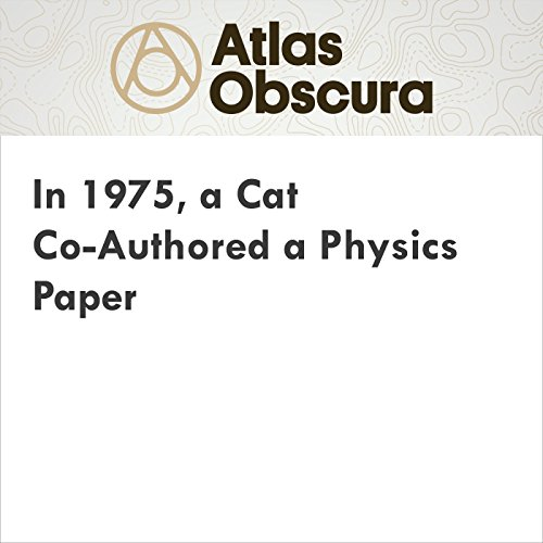 In 1975, a Cat Co-Authored a Physics Paper audiobook cover art