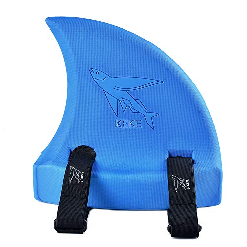 Swim Float for Kids, Shark Fin, Learn to Swim, Safety and Training, Fun Pool Toy Trainer - Blue
